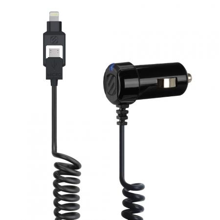 Scosche 12v laddare lightning+Micro USB