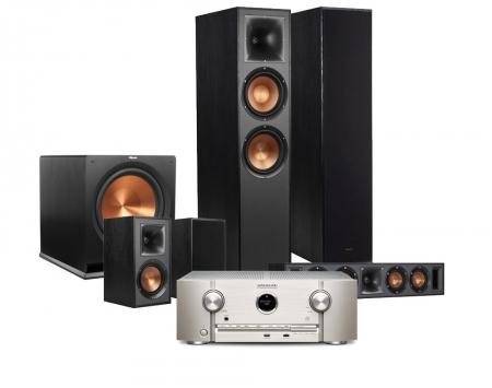 Klipsch R-820F   R-115SW högtalarpaket 5.1 med Marantz SR5013 i gruppen  Hemmaljud 6a1ca50e5424d