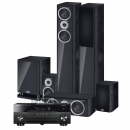 Yamaha RX-A860 & HECO Music Style 5.1-system Svart
